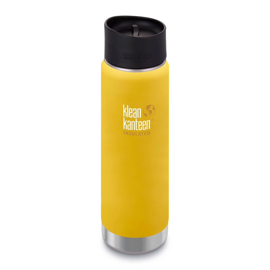 Термофляга Klean Kanteen Wide Vacuum Cafe Cap Lemon Curry Matt 592 мл 1