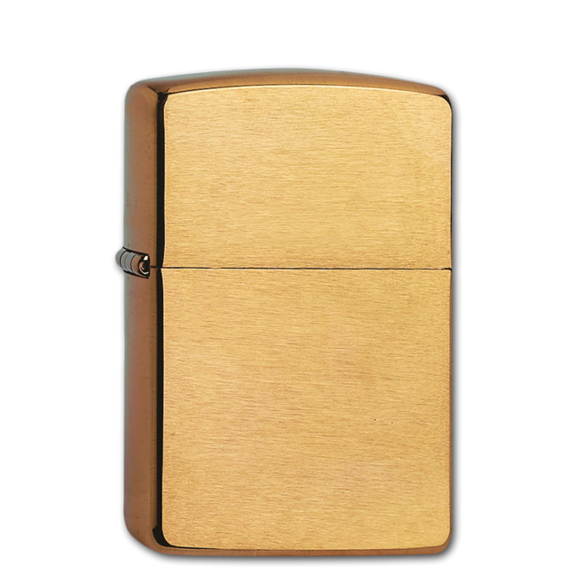 Зажигалка Zippo бензиновая ARMOR BRUSHED BRASS 168 1
