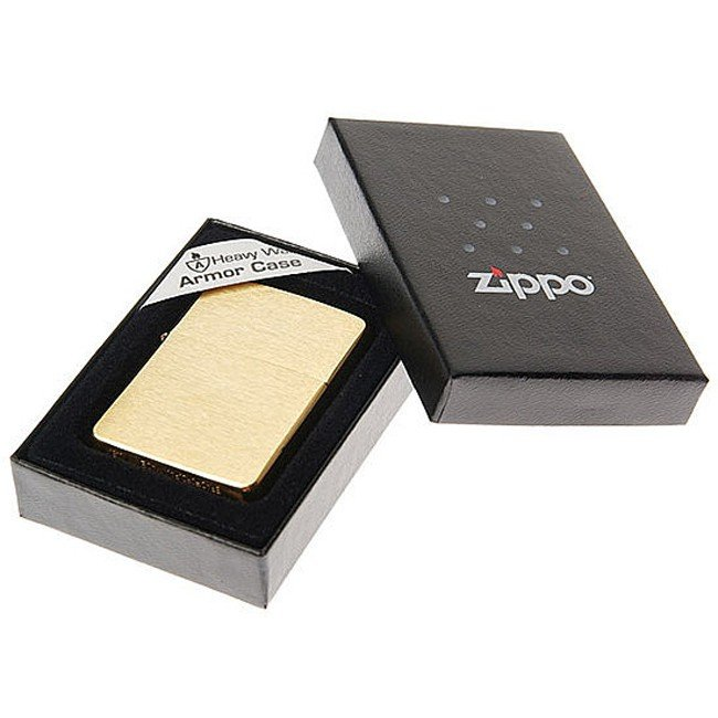 Зажигалка Zippo бензиновая ARMOR BRUSHED BRASS 168 32215