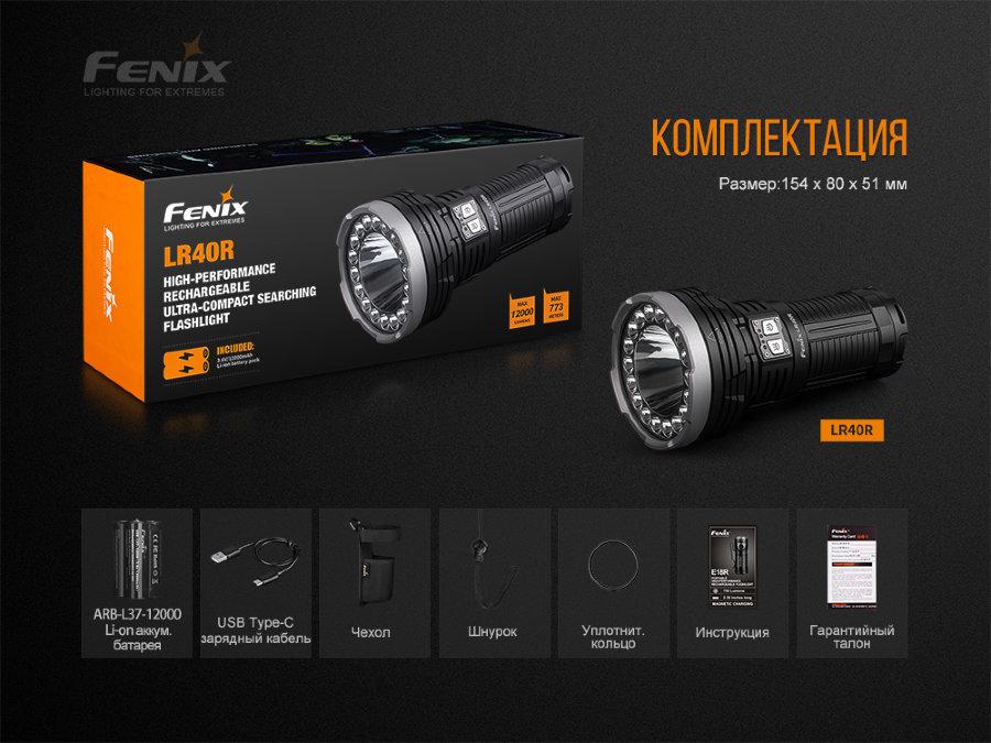 Fenix LR40R XP-L HI V3+18 Luxeon V2, 12000 лм 1